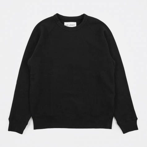50's Great Sweatshirt - Black Sweat Washed