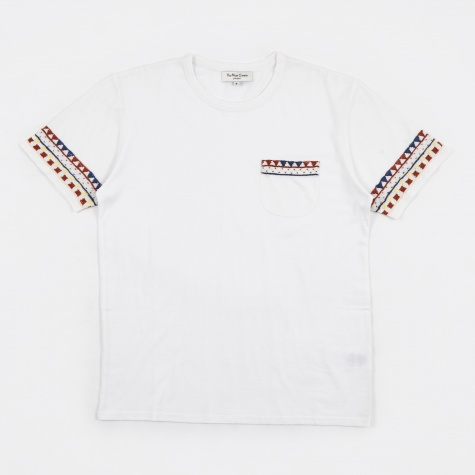 Wild Ones Pocket Tee Embroidery - White