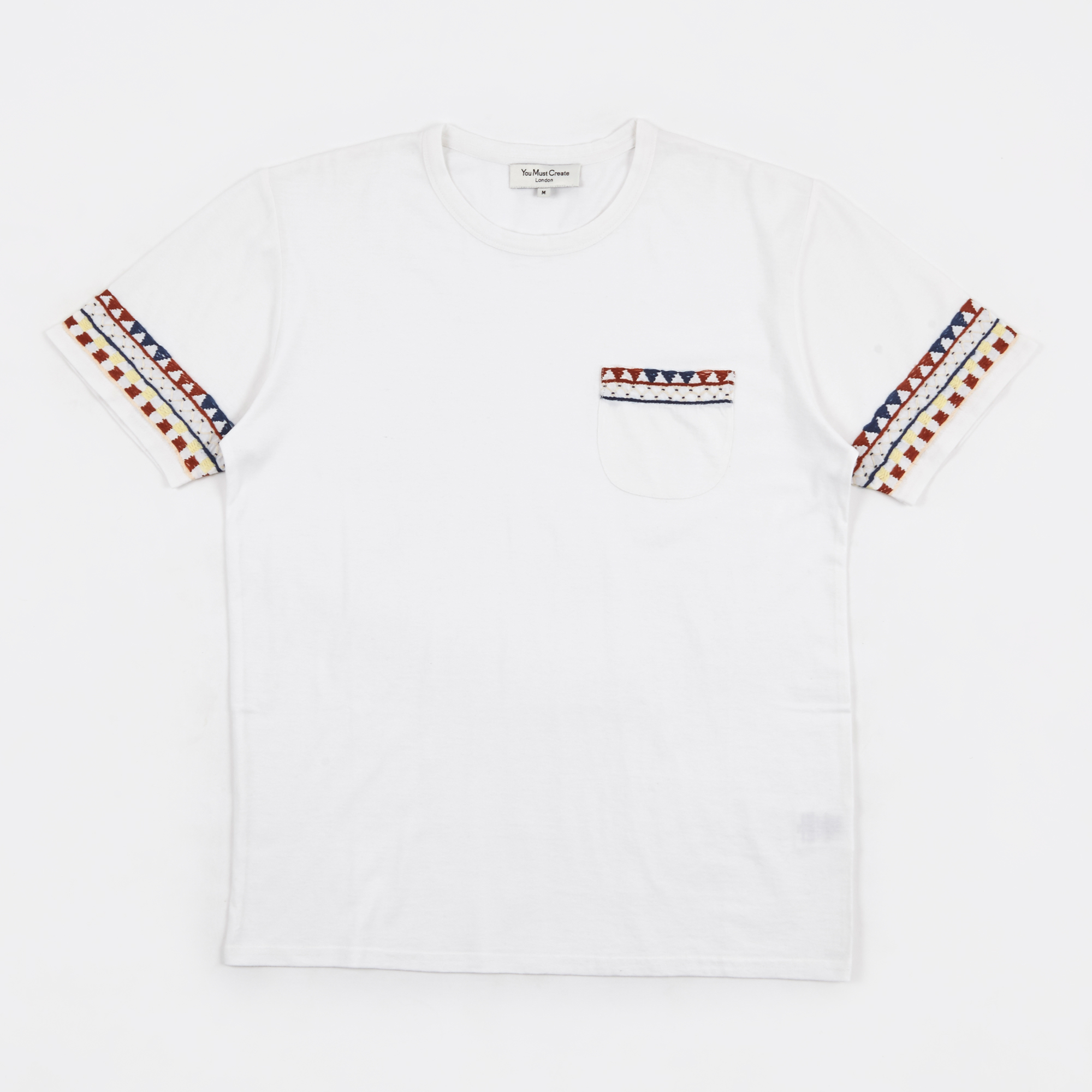 Ymc black t shirt - Wild Ones Pocket T Shirt Embroidery White