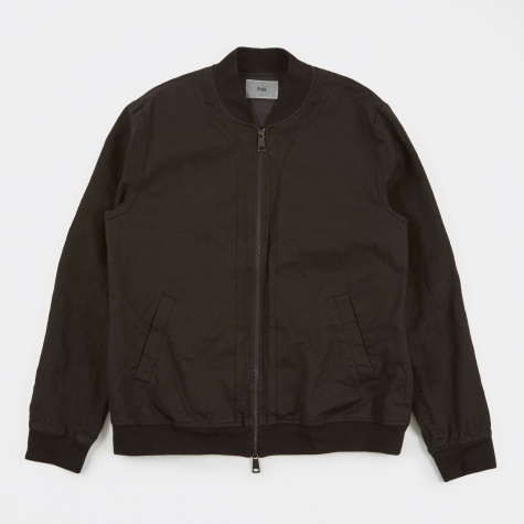 Slouch Bomber Jacket - Off Black