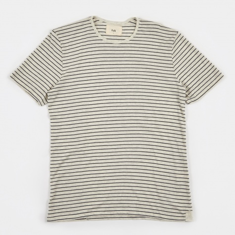 Stripe T-Shirt - White/Navy