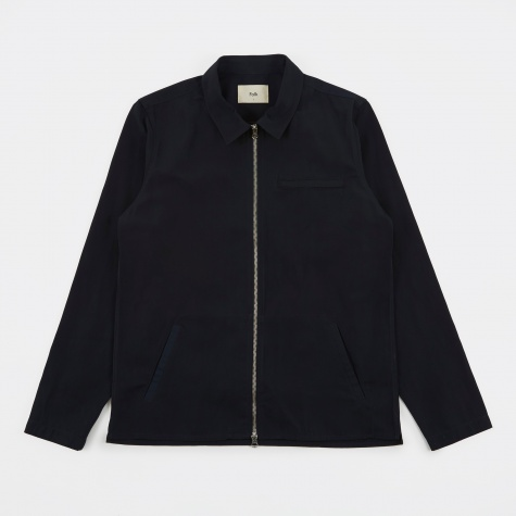 Zip Shirt Jacket - Navy Tech