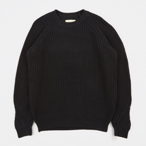 Chunky Direction Jumper - Black