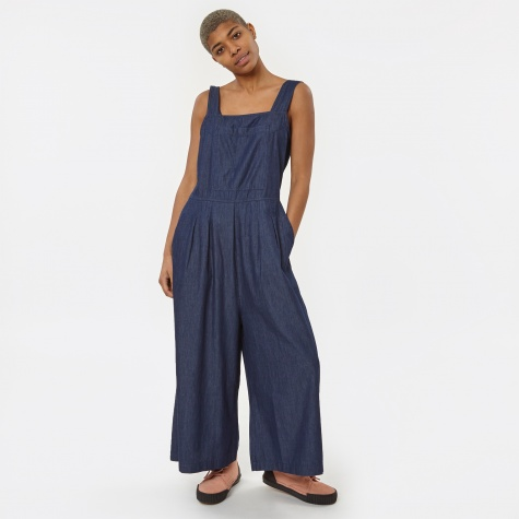 Beau Chambray Jumpsuit - Mid-Blue