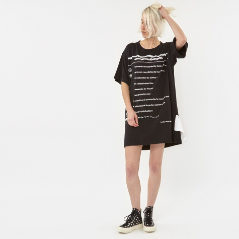 MM6 Basic Jersey T-Shirt Dress With Explanation Print - Black/Pr