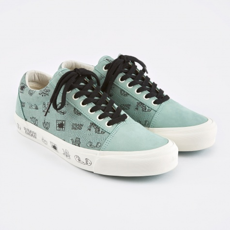 Vault x Brain Dead Old Skool LX - Granite Green/Marshmallow