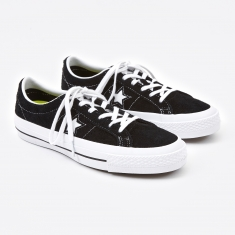 Converse One Star Hairy Suede - Black/White