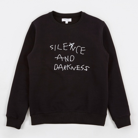 Silence Sweatshirt Embroidery - Black