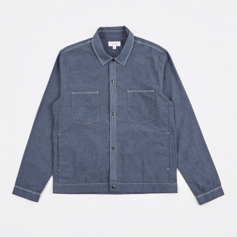 Hestehave Shirt Multi Stitch - Navy