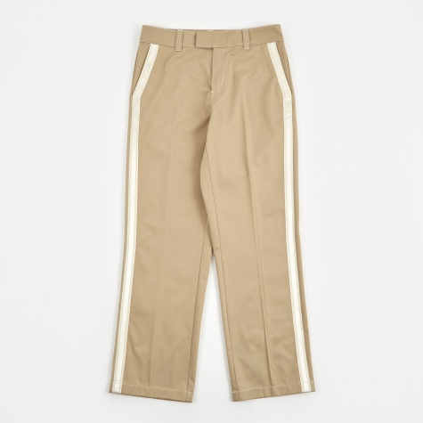 Greco Heavy Pant Taped Seam Trousers - Light Beige
