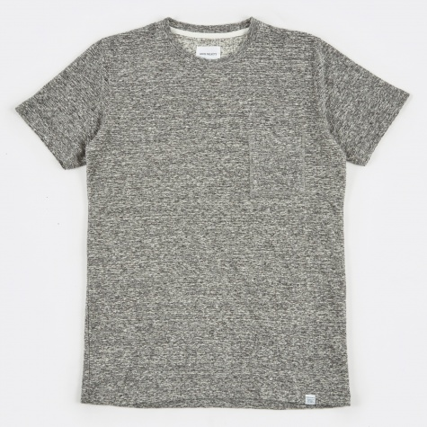 Niels Japanese Pocket T-Shirt - Mouse Grey Melang
