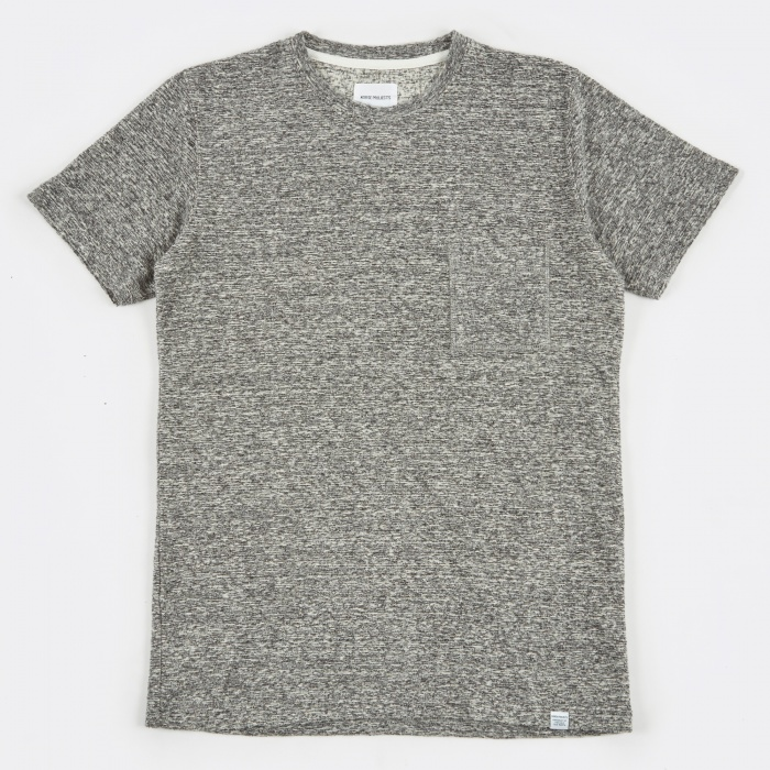 Norse Projects Niels Japanese Pocket T-Shirt - Mouse Grey Melang (Image 1)