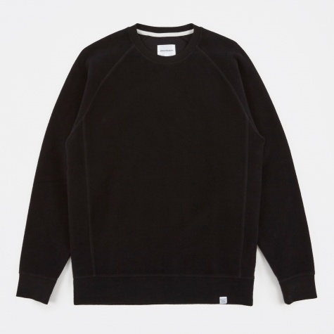 Ketel Solid Brushed Sweatshirt - Black