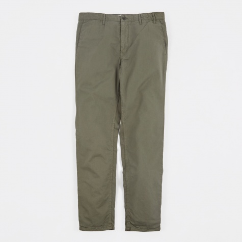 Aros Light Twill Chino Trousers - Dried Olive