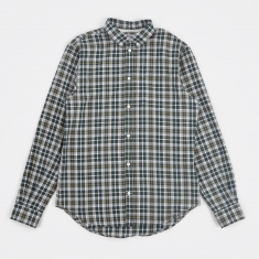 Norse Projects Osvald Light Check Shirt - Verge Green