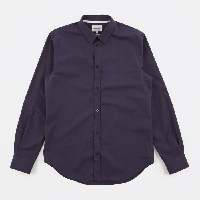 Norse Projects Osvald Classic Poplin Shirt - Navy (Image 1)