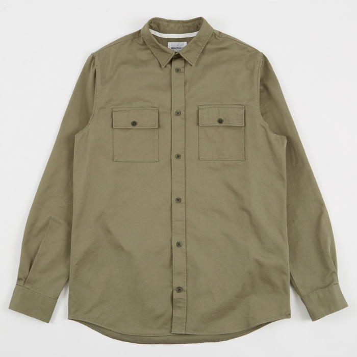 Norse Projects Villads Twill Shirt - Dried Olive (Image 1)