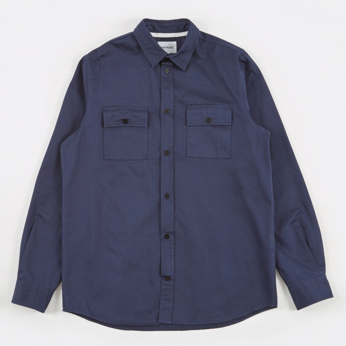 Norse Projects Villads Twill Shirt - Navy (Image 1)