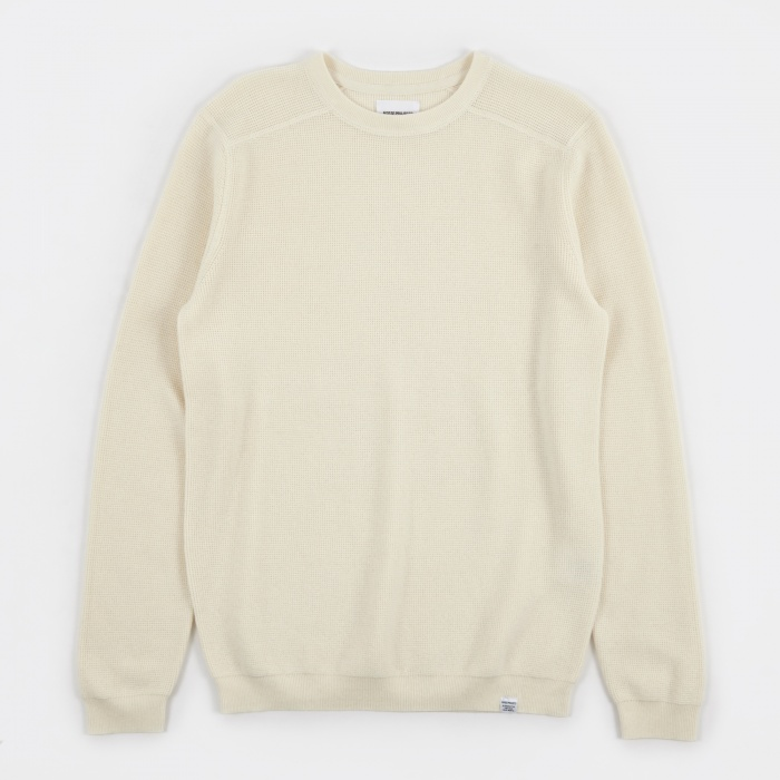 Norse Projects Lauge Waffle Knit - Ecru (Image 1)