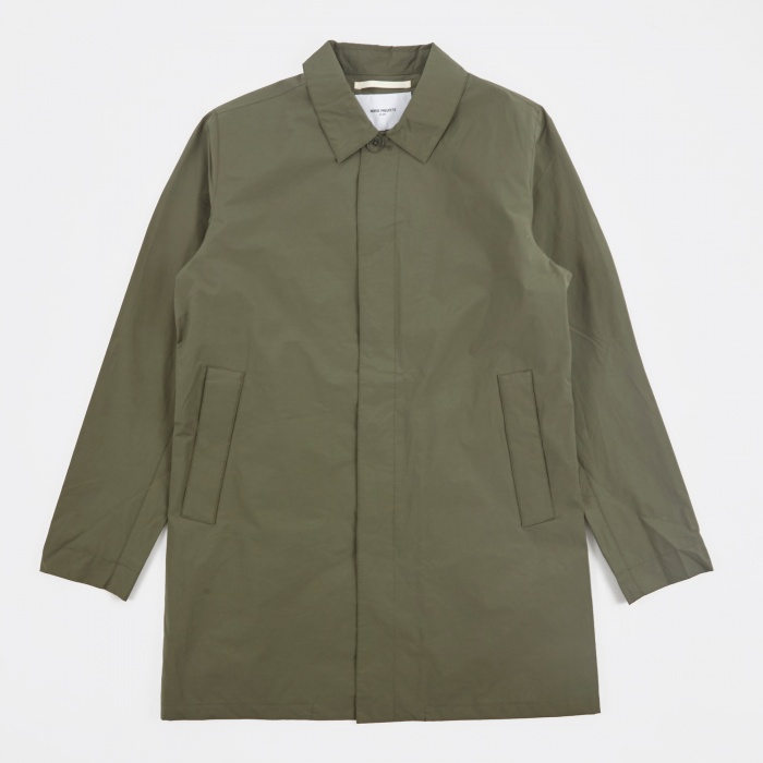 Norse Projects Thor Crisp Cotton Jacket - Dried Olive (Image 1)