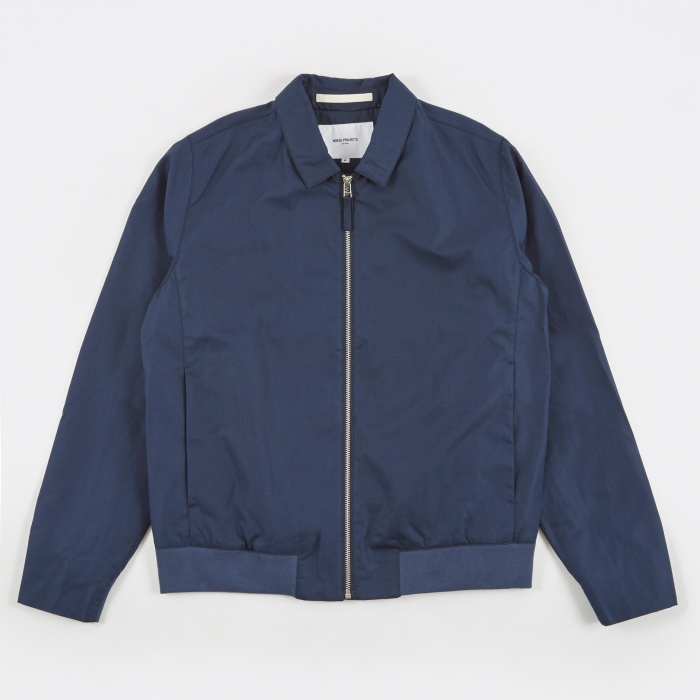 Norse Projects Trygve Cotton Panama Jacket - Navy (Image 1)