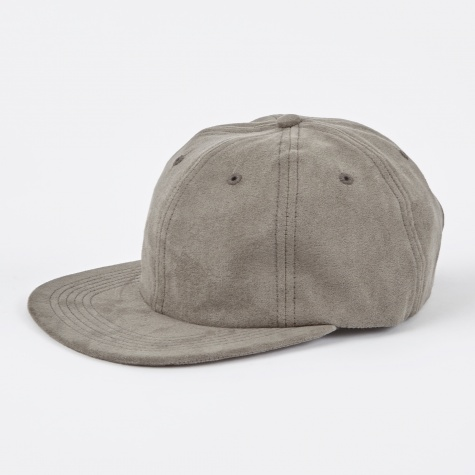Light Faux Suede Flat Cap - Iron