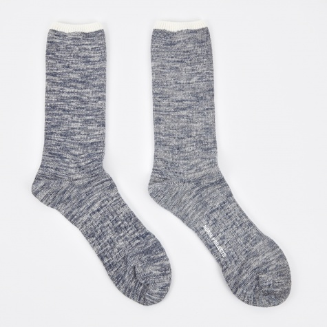 Bjarki Blend Cotton Sock - Navy