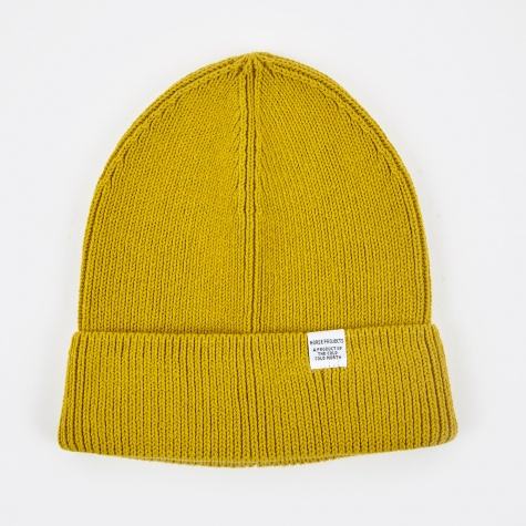 Cotton Watch Beanie - Edge Yellow