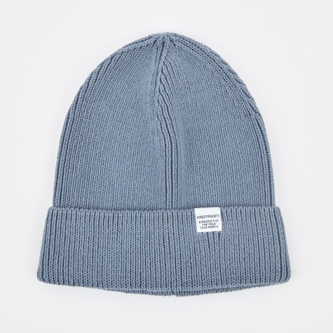 Cotton Watch Beanie - Marginal Blue