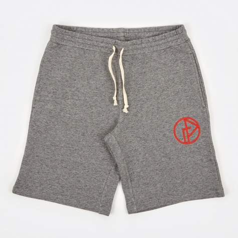 Sweatshort with Logo - Grey