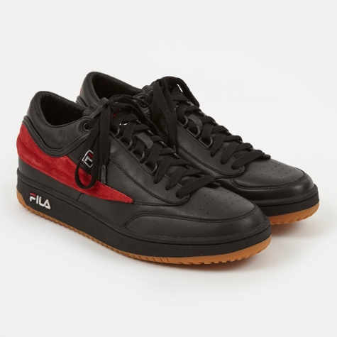 x Fila T-1 Mid Sneaker - Black/Red