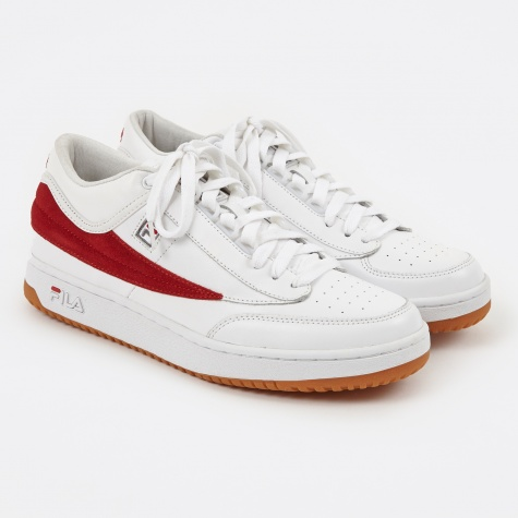 x Fila T-1 Mid Sneaker - White/Red