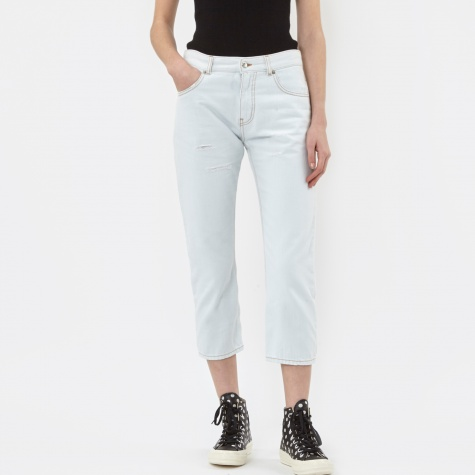 MM6 Cropped Denim Jeans - Special Bleached Washed