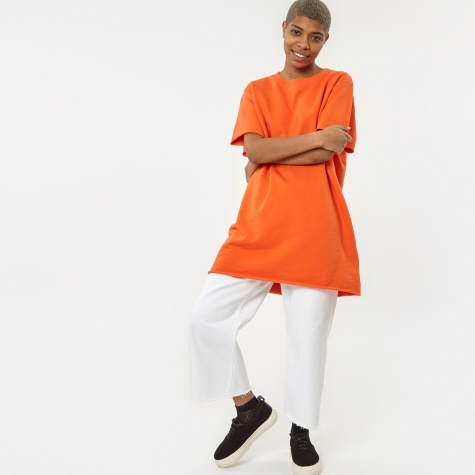 MM6 Basic Short Sleeve Long Sweat - Mandarine