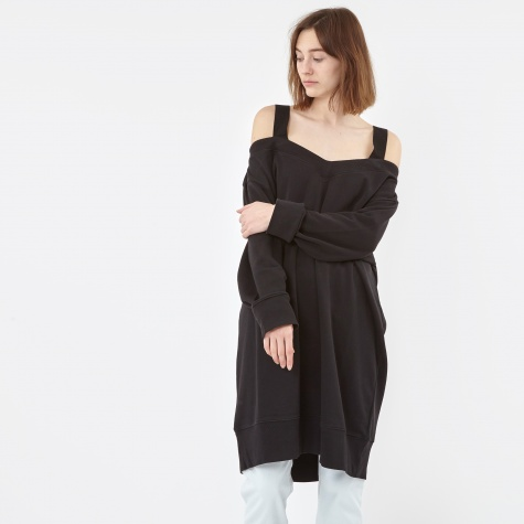 MM6 Brushed Off Shoulder Sweat dress - Black