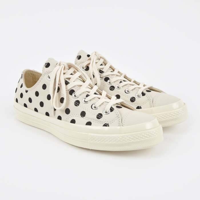 Converse 1970s Chuck Taylor All Star - Polka Dot Parchment/Blac (Image 1)