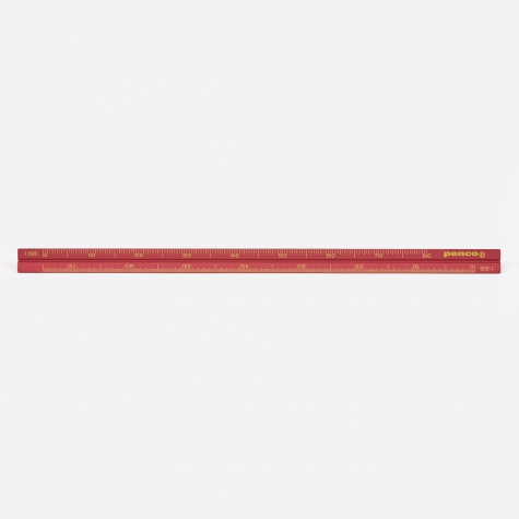 Penco Drafting Scale Ruler - Red