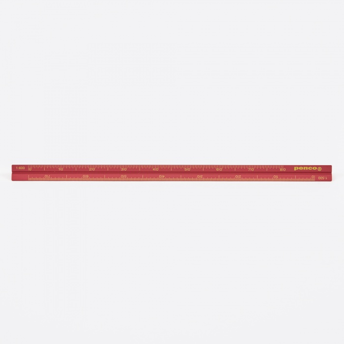 Hightide | Penco Penco Drafting Scale Ruler - Red (Image 1)