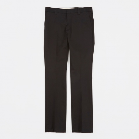 Slim Straight Stretch Work Pants - Black