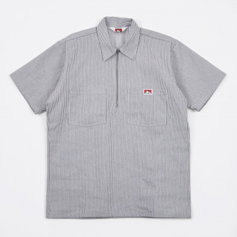 Half Zip Work Shirt - Hickory Stripe