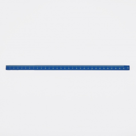 Wooden Ruler Cube Painted - Blue