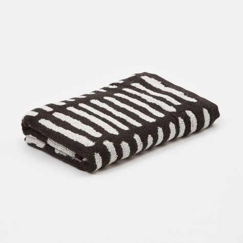 Wrong for Hay He Hand Towel - Black & Creme