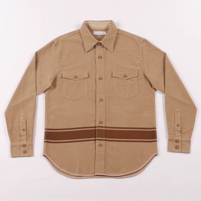 Head Porter Plus CPO Shirt - Beige (Image 1)