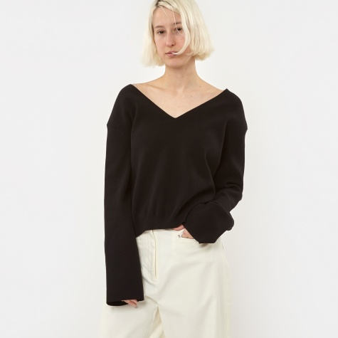 Hit V Neck Jumper - Black