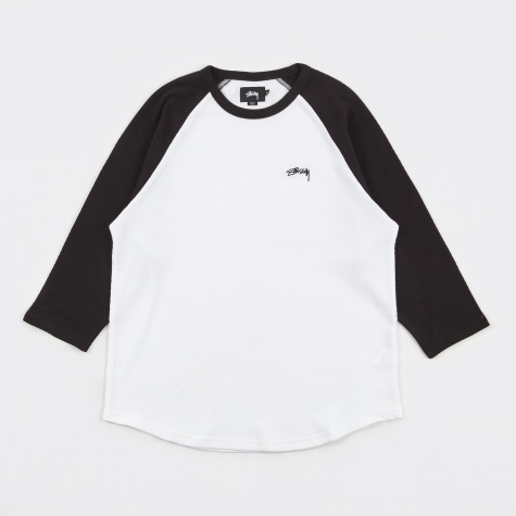 Thermal Raglan Jersey Sweatshirt - Black