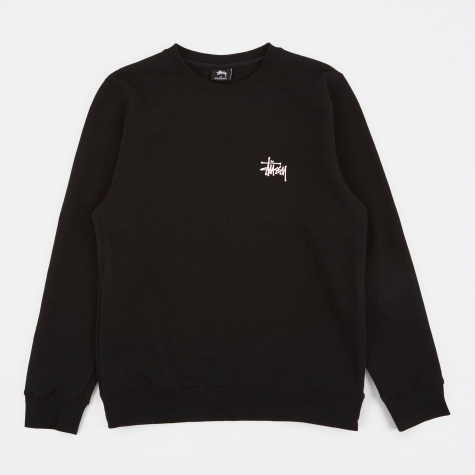 Basic Stussy Crew Sweater - Black