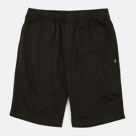 Light Twill Beach Shorts - Black