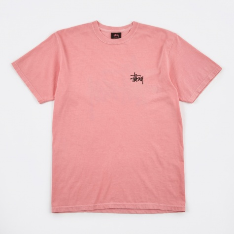 Basic Stussy Pigment Dyed Tee - Pink