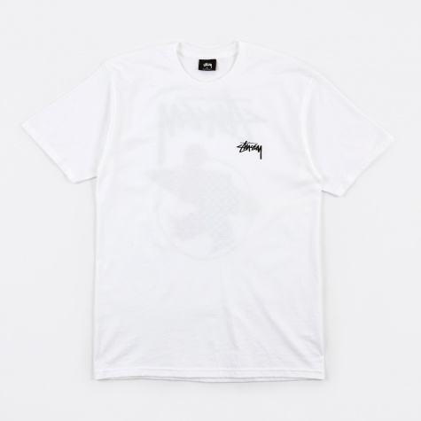 Surfman Check T-Shirt - White