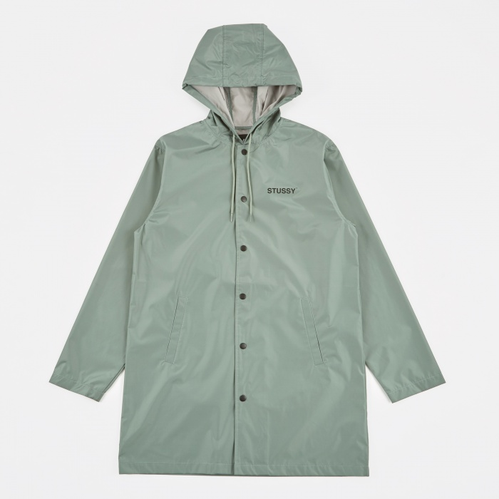 Stussy Long Hooded Coach Jacket - Olive (Image 1)